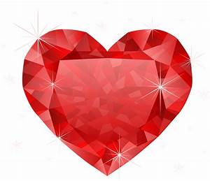 Large Transparent Diamond Red Heart PNG Clipart   Gallery ...