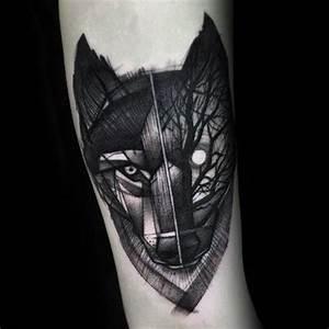 Tatouage Loup Graphique : 90 geometric loup tattoo designs for men id es manly ~ Mglfilm.com Idées de Décoration