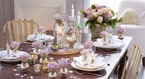 Dcoration De Table Romantique Pour Nol Prima