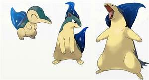 Cyndaquil Evolution Line - Water by Jonestu on DeviantArt