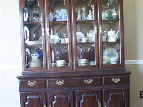 ethan allen georgian court dining room table hutch chairs