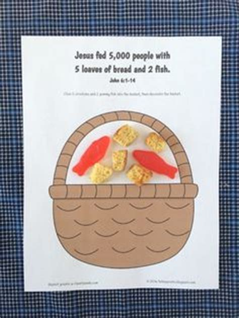 jesus feeds 5000 craft feeding the 5 000 jesus fish and crafts 4773