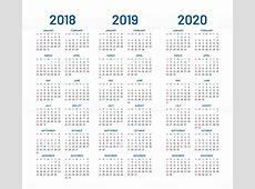 2018 2019 2020 年カレンダー ベクトル 2018年のベクターアート素材や画像を多数ご用意 iStock