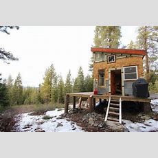 Young Tahoe Couple's Hand Crafted Off Grid Cabin  Living