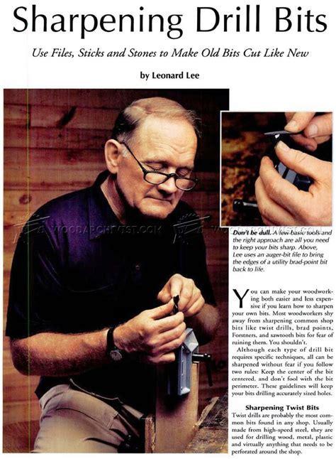 Sharpening Drill Bits ? WoodArchivist