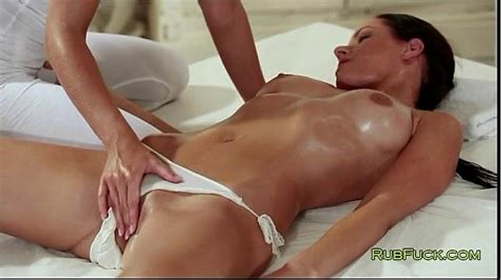 #Brunette #In #Panties #Gets #Pussy #Massage