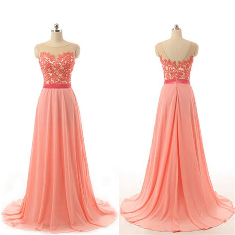 coral color dresses custom cheap cap sleeves coral pink lace prom dresses