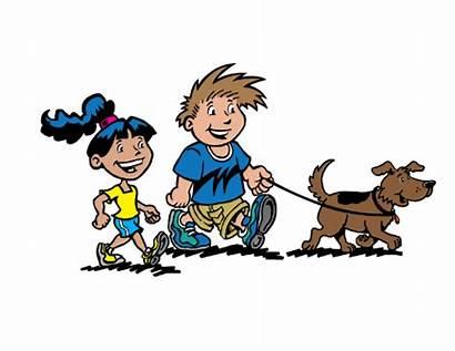 Clipart Walk Encouraging Children Kansas Health Dog