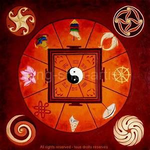 Feng Shui Glücksbringer : ashtamangala mandala feng shui artist ~ Sanjose-hotels-ca.com Haus und Dekorationen
