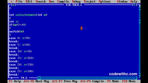 C Program: Analogue Clock Using C Graphics | Code with C
