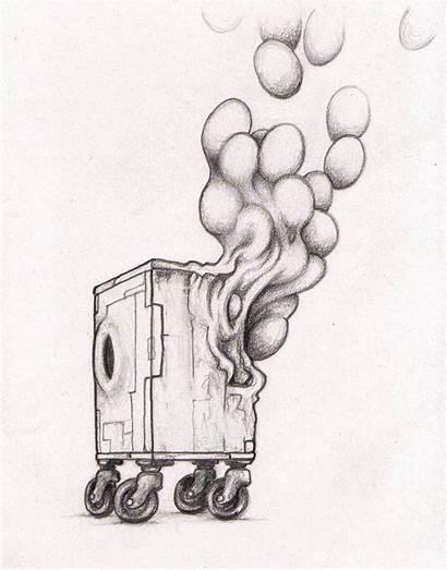 Artwork Weird Pencil Drawing Sculpture Box Artists