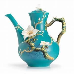 Franz Porcelain Collection Van Gogh Almond Flower Teapot