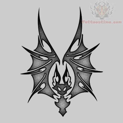 tribal bat tattoo samples