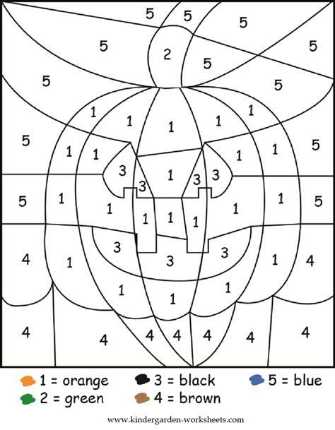 Color By Number Worksheets Kindergarten Appytrucksandskulls