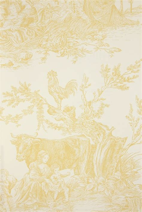 yellow toile wallpaper gallery