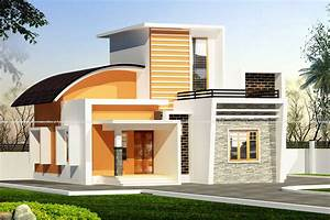 Single, Floor, Home, Elevation, With, Beautiful, Exterior