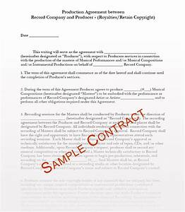 Music contracts music contract templates music manager for Record label contracts templates