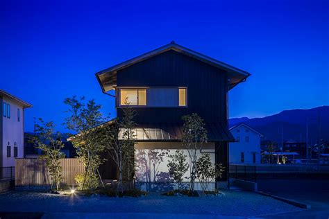 stylish synergy modern japanese home   view  distant mountains