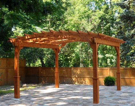 customers photo    red cedar arched pergola