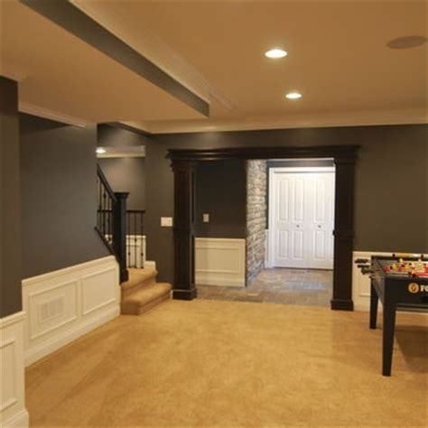 walls light trim and wainscoting medium to stained accents some well