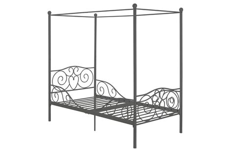 Diy Pallet Distressed Canopy Bed