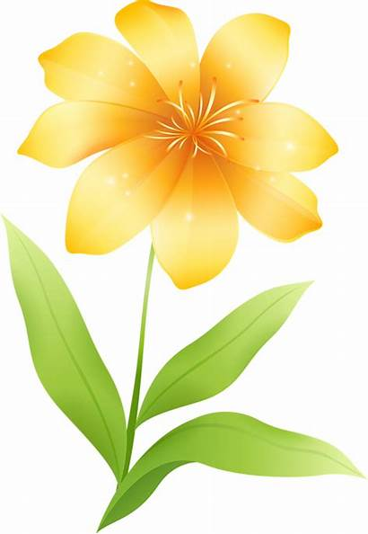 Yellow Flowers Flower Clipart Clip Cliparts Gold
