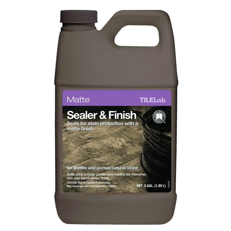 saltillo tile sealer home depot custom building products tilelab 1 2 gal matte sealer and