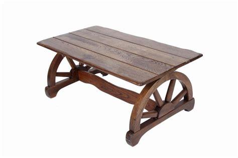 wagon wheel coffee table oak wagon wheel western coffee table measures 40 quot l x 22 quot w