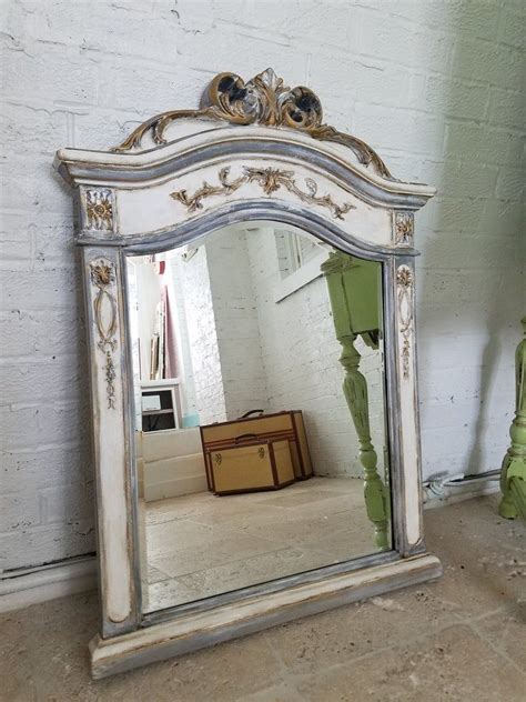 The shaker vanity drawers soften the bold black, with. ORNATE GRAY MIRROR Decorative Mirror Wall Mirror French ...