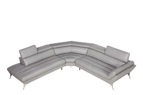 modern grey leather sofa vig furniture divani casa graphite modern grey leather