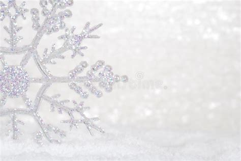 Glitter Snowflake Background by Glitter Snowflake In Snow Stock Image Image Of Copy
