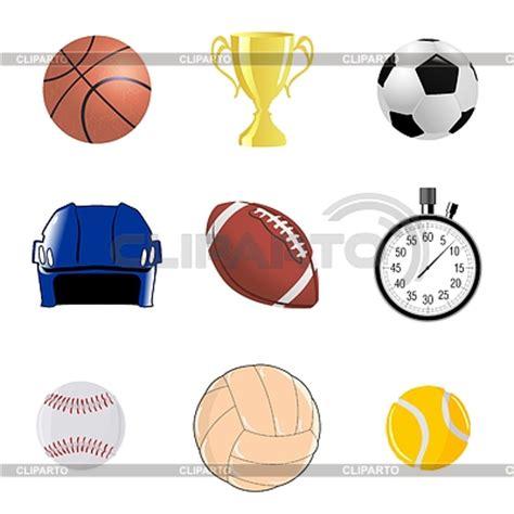 Conjunto de objetos deportivos   Ilustración vectorial de stock   CLIPARTO