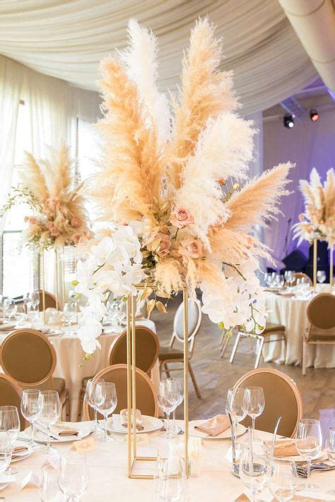 china long fuzzy plume pampas grass  party decor