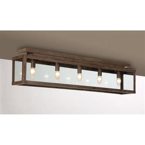 long  ceiling light fitting rusty metal finish ideal