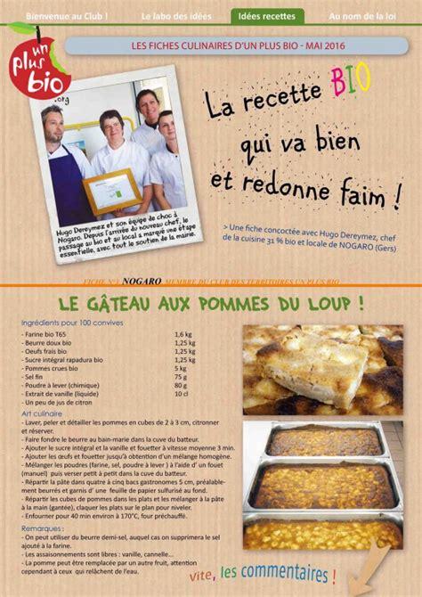recette cuisine bio fiche recette cuisine centrale un site culinaire