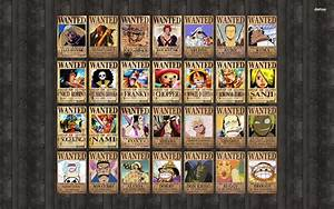One Piece Wanted Posters Wallpaper