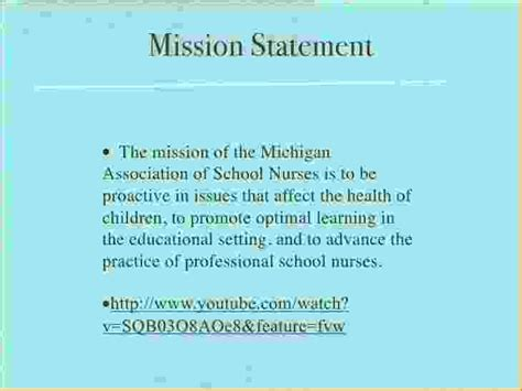 Mission Statement For Nursing Resume by 11 Mission Statement Exles Pay Stub Template