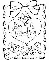 Valentine Cards Printable Card Valentines Coloring sketch template