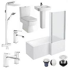 Bliss Lshaped 1700 Complete Bathroom Package Available