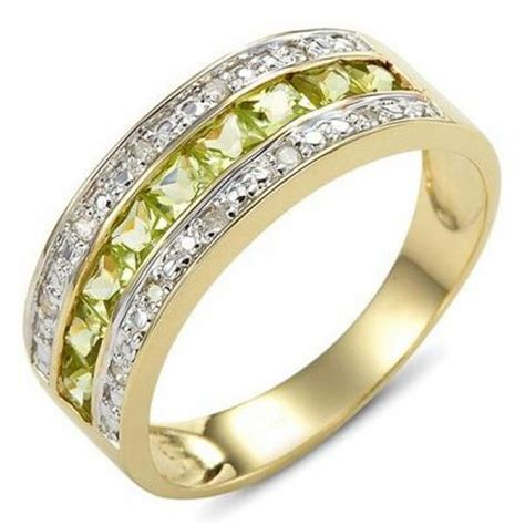 size 6 7 8 9 10 expensive peridot 18k gold filled engagement ring gift ebay
