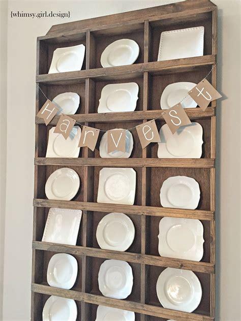 whimsy girl  fall kitchen  plate racks plate rack wall diy plate rack