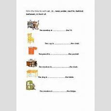 Preposition Worksheets In On Under  Google Search  Education  Pinterest  Worksheets And English
