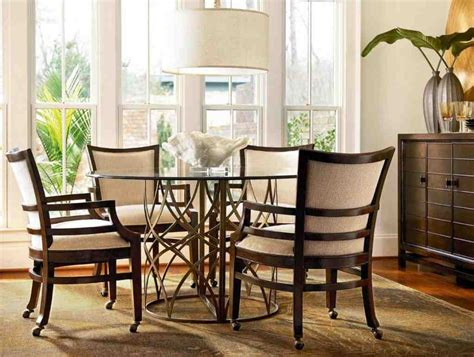 kitchen table  chairs  casters decor ideas
