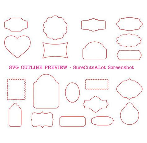 Compatible with cameo silhouette studio, cricut and other cutting machines for any crafting projects. 20 GIFT TAG SVG SHAPES- Cricut & Silhouette SVG DXF EPS ...