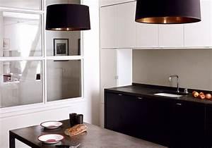 Cuisine Blanche Et Noire : la cuisine noire et blanche plus contemporaine que jamais ~ Nature-et-papiers.com Idées de Décoration