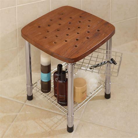bathroom stools teak corner shower stool small corner