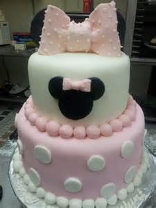 Pink Minnie Mouse Baby Shower Cake