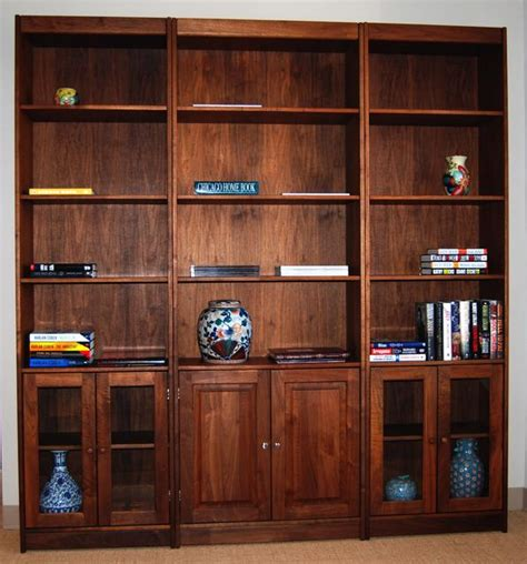 Solid Hardwood Bookcases by Useful Bookcase Design Woodworking Clever Woodworking Design