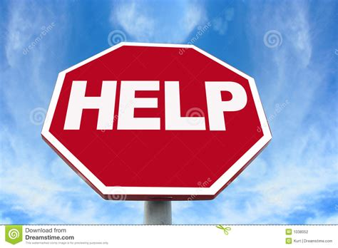 Help Sign Stock Photo. Image Of Safety, Stop, Relief, Blue