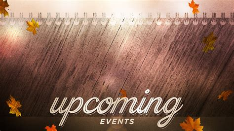 Woodgrain Upcoming Events Motion Background | The Skit Guys